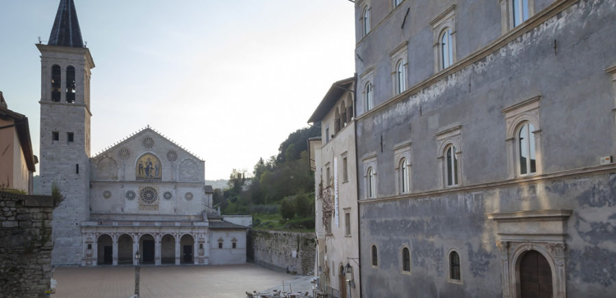 Spoleto, the town in a crib